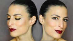 Πως να κάνετε eyeliner με μπορντό χείλη!!   *συμβουλές + τιπς