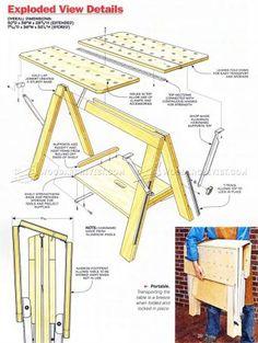 #2120 Folding Work Table Plans - Workshop Solutions