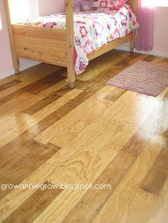 Faux Plank Flooring, plywood floor, painted sub-floor alternative
