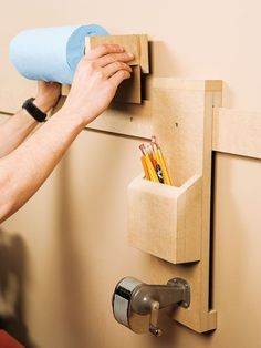 Organize your shop with a wall cleat system – Canadian Home Workshop  I need something like this to keep pencils in above my wall sharpener!  ~K