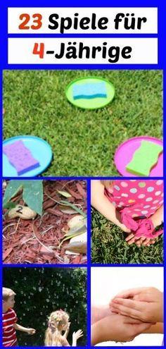 Spiele für Kinder ab 4 Jahren für den Kindergeburtstag (Geburtstagsspiele) oder die Spielgruppe, den Kindergarten, ...