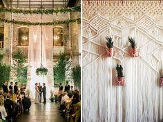 Wedding Wall Decor trend alert: succulent-themed wedding accessories   succulent wall