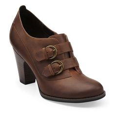 Buena Vista in Brown Oily Leather - Womens Shoes from Clarks