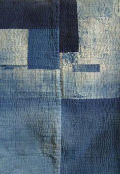@ rosapomar.tumblr.com. Indigo dyed boro noragi (work coat).
