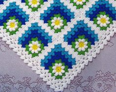 PDF Pattern Crocheted Baby Toddler Afghan by thejewellshandmades