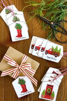 Get these free printable Christmas gift tags to add a custom touch to your gift wrapping! Digital download PDF will be emailed directly to your inbox