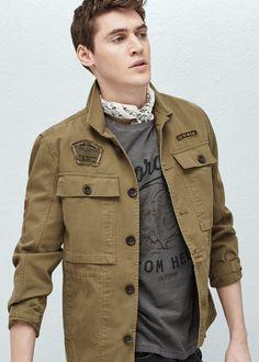 Askeri tarz ceket | MANGO MAN