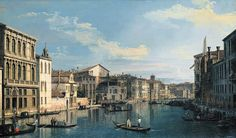 Giovanni Antonio Canal Canaletto - Venice: The Grand Canal from Palazzo Flangini to the Church of San Marcuola