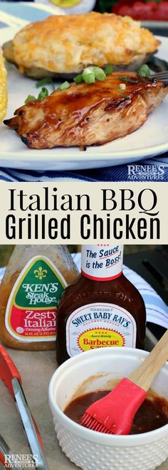Italian BBQ Grilled Chicken- this was absolutely amazing. I also added some Italian seasoning
