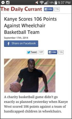 Charity Game Didn't Go As Planned- Kanye is the most selfish person alive.
