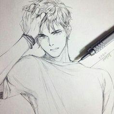 Art by shinji i believe anime boy sketch, anime face drawing, man sketch, Manga Drawing, Manga Art, Drawing Sketches, Cool Drawings, Anime Art, Drawing Ideas, Pencil Drawing Tutorials, Anime Boy Sketch, Man Sketch