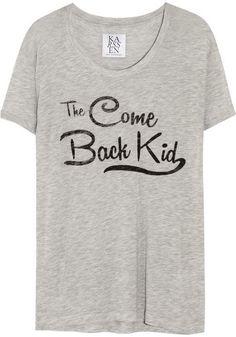 Pin for Later: Avec ces hauts, vous allez faire parler les bavards !  Zoe Karssen T-shirt en jersey Come Back Kid (60 €)
