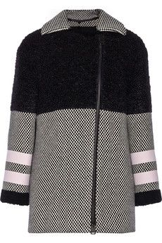 Fendi Shearling, wool and mohair-blend coat | NET-A-PORTER