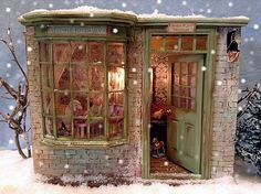 Box Houses, Fairy Houses, Mini Houses, Best Doll House, Stone Cottages, Miniature Rooms, Yarn Shop, Book Nooks, Small World