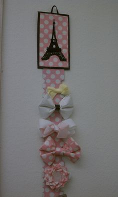 Duct tape barrette holder. by Somethingtoquackabout Duct Tape, via Flickr