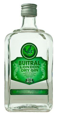 London Dry Gin Buitral. Elaborada con baya de enebro y productos naturales de excelentísima calidad.