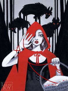 """Red"" Little Red Riding Hood 11x14 Fine Art Print by Leilani Joy"