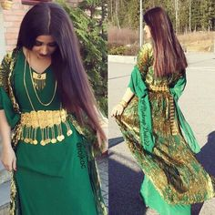 Beautiful red Kurdish Dress with a golden ‎belt and