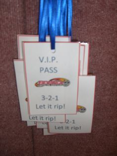 Beyblade VIP passes each child wore at the party!