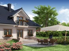 Zdjęcie projektu Diogenes WRW1116 Beautiful House Plans, Beautiful Homes, Home Fashion, Cozy House, Home Interior Design, Home Projects, Gazebo, Architecture Design, Exterior
