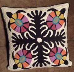Hawaiian quilt design pillow cover - from International Marketplace Honolulu