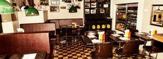 Flippin' Burgers, Stockholm Stockholm Restaurant, Burgers, Sweden, Liquor Cabinet, Restaurants, Spaces, Table, Furniture, Food