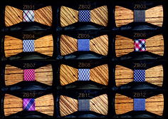 Wooden Bow Tie Zebrano Wood