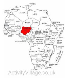 Uganda is marked in red on this useful outline map of Africa. Children can see its size relative to other African countries, and identify its neighbours too. Afrika Tattoos, Madagascar 2, South Africa Map, Piercings, Map Worksheets, World Thinking Day, Congo, Seychelles, Ghana
