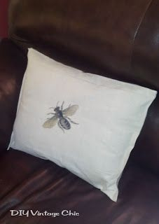 DIY Vintage Chic: Use iron-on graphics for couch cushions!