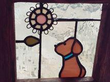 ステンドグラスのお正月飾り、鏡餅