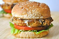 Baked Eggplant Burgers - these look  amazing! They will go great with a side of sweet potato fries!