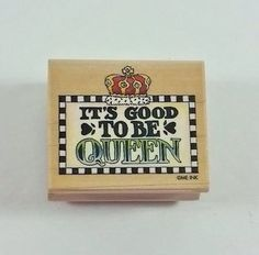 Good to be Queen Rubber Stamp All Night Media #341E Mary Engelbreit #AllNightMedia #Background