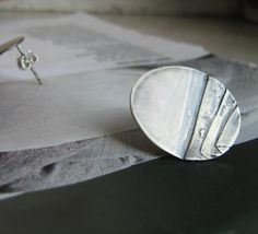Folds-silver earstuds by DONAULUFT €52,00 EUR
