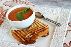 10 minute tomato soup - (This is truly quick and good and can be made in the microwave. For kids or someone with a sensitive stomach, i would use garlic paste or garlic powder as the cooking time leaves the garlic pretty raw.)