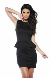 Black Fitted Peplum Dress