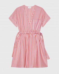 картинка Платье-рубашка мини на кулиске магазин Одежда+ являющийся официальным дистрибьютором в России