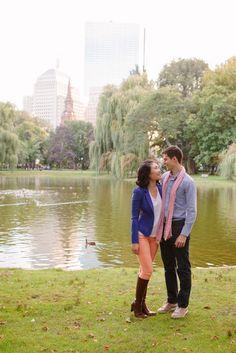 Boston engagement photos | Boston Public Garden | DB | Boston Wedding Photographer | Melissa Robotti