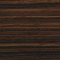 A dark brown, horizontal woodgrain effect done in high gloss thermofoil.