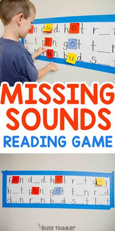 Missing Sounds Reading Activity: Hands-on reading activity; first grade activity; decoding and CVC words from Busy Toddler preschool cvcwords earlyreading reading kindergarten 297730225365659381 Teaching Phonics, Kindergarten Learning, Kids Learning Activities, Preschool Learning Activities, Educational Activities, Teaching Reading, Fun Learning, Teaching Kids, Toddler Preschool