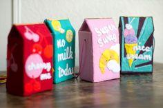 Milk bags, by Lisa Gachet