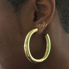 Gold hoops #jewelry #hoops