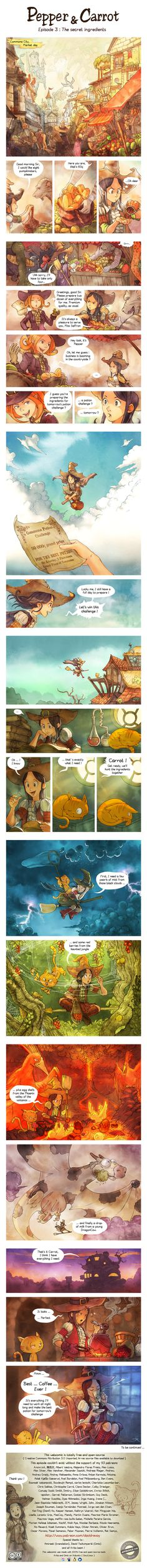 'Pepper and Carrot' Ep 3 : The secret ingredients by Deevad.deviantart.com on @DeviantArt