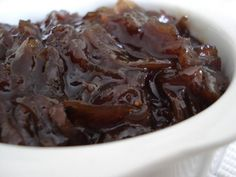 I use port instead of sherry. delicious on steaks and burgers. Onion Recipes, My Recipes, Lemon Meringue Tart, Onion Jam, Marmalade, Fruits And Vegetables, Preserves, Spices, Food And Drink