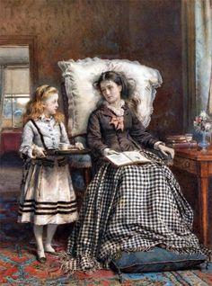 Women Reading - old-fashionedcharm: George Goodwin Kilburne - The...