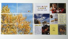 Layout by Debra Tuffner. Layout features Photo Pocket Pages Design A (left side) and Photo Pocket Pages Design F (right side). All filler and journaling cards are from the High Five Edition.