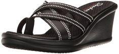 $59.99 Skechers Cali Women's Rumblers-Young At Heart Wedge Sandals