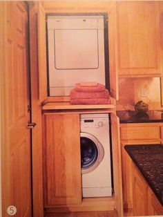 Diy Stack Washer Dryer Cabinet Or Enclosure Stacked