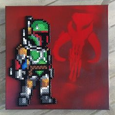 Boba Fett - Star Wars canvas perler beads by mladyicarus