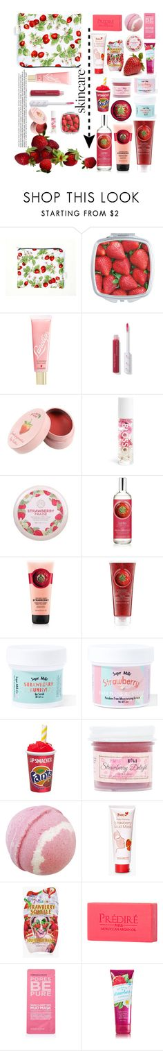 """""""Strawberry"""" by genovefa1567 ❤ liked on Polyvore featuring beauty, Lano, Blossom, The Face Shop, Sugar Milk Co, Butter Toki, SkinCare, Boohoo, Prédiré Paris and Topshop"""