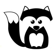 Little fox silhouette. Fuchs Silhouette, Silhouette Design, Fox Silhouette, Vinyl Crafts, Vinyl Projects, Machine Silhouette Portrait, Freezer Paper Stenciling, Ideias Diy, Silhouette Cameo Projects